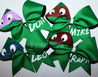 Ninja Turtle TMNT Cheerleading Allstar Hairbow by FunBows !