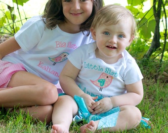 Big Sister Shirt - Big Sis Shirt - Big Sister T Shirt - Big Sis T Shirt - Big Brother Shirt - Little Sister/Brother Bodysuit Sibling Set