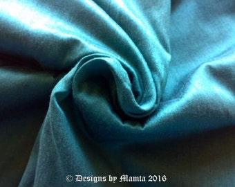 Verdigris Turquoise Dupioni Silk Fabric, Indian Silk Fabric, Bridesmaid Gown Material, India Fabric, Dark Turquoise Blue Silk Fabric