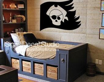 Pirate Wall Decal -  Pirate Nursery Decal - Pirate Sticker - Pirate Decor - Pirate Decal
