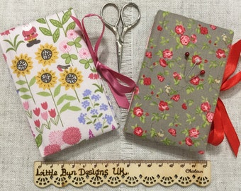 Needle Case Book / Handmade Needle Book / Sewing Accessories / Needle Book / Sewing Supplies / Sewing Gifts / Floral Needle Case
