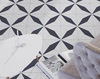 Moroccan - Floor Tile Decals - Flooring - Vinyl Floor - Bathroom flooring - Kitchen Flooring - Tile Stickers - Tile Decals -  SKU:GMARST