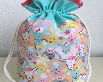 Knitters /Crafters Project Bag  - Funky Sheep - colourway two
