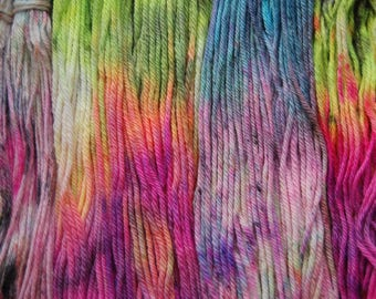 Hand dyed Speckled Worsted weight Merino Wool Singles Yarn - ULTRA by Monarch Fibers