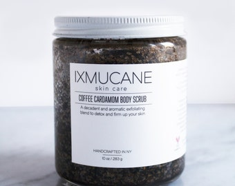 Organic Coconut Oil Coffee and Cardamom Body Scrub //  ON SALE!!