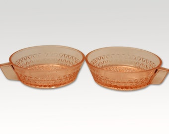 Vintage Ice cream Bowls - Rose coloured Ice Cream Bowl - French Vintage