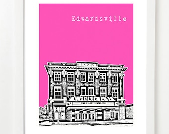 Edwardsville Poster- City Art Print - Edwardsville Illinois