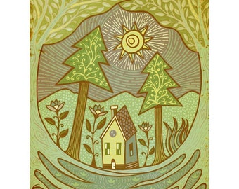 Little Cottage in the Woods-print