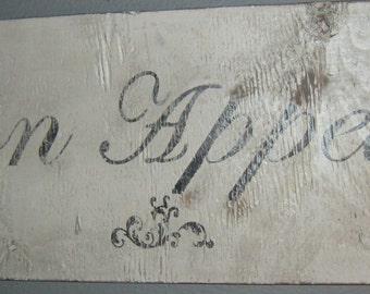 Distressed Bon Appetit sign