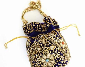 Beautiful Potli Drawstring Handbag