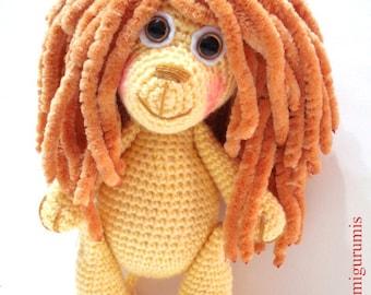 León Amigurumi Tutorial : Poppy trolls moviev amigurumi pattern easy diy pdf crochet tutorial