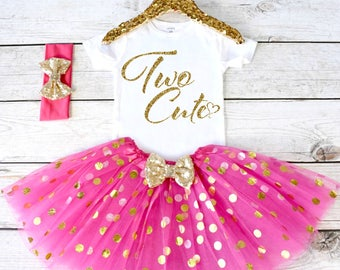Two Cute. 2nd Birthday Outfit. Girls Birthday Outfit. Birthday Shirt. Birthday Tutu Outfit. Birthday Girl. 2nd birthday S2 2BD (HOTPINK)