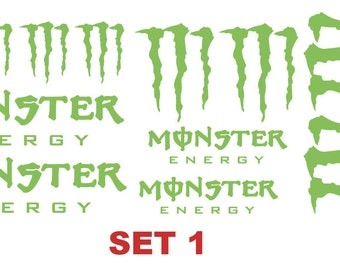 Monster Vinyl Stickers / Graphics / Decals choice of 3 sets