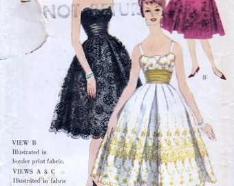 Vogue dress pattern Special Design 4958, Bust 36 inches, Dress sewing patterns, 1950s Vintage