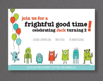 Frightful Good Time Birthday Invite