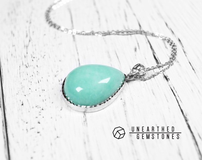 Green Blue Amazonite Necklace