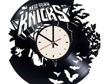 New York Knicks clock Basketball wall clock Basketball wall clock Knicks gifts Basketball wall decor Knicks wall decor Knicks gifts