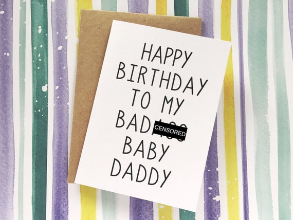 Funny baby daddy card husband birthday card happy birthday funny baby daddy card husband birthday card happy birthday to my bada baby daddy birthday card for husband boyfriend father of child bookmarktalkfo Choice Image
