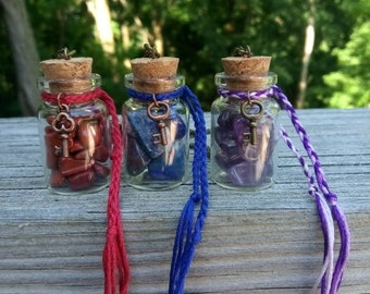 Crystal Wish Bottle Necklaces