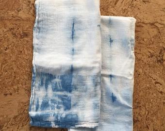 Shibori Indigo Flour Sack Tea Towel | Set of Two