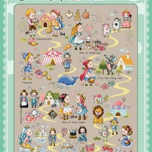 Fairy Tale Land 1 - cross stitch pattern or kit. SODAstitch  SO-G130