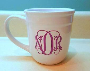 Monogrammed Coffee Mug, Personalized Tea Mug, Custom Made