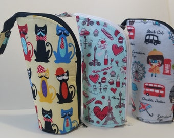 Zippered Pencil Cup Pencil Case Sewing Pattern Download