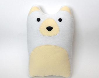 Polar Bear Plush Stuffed Animal Pillow - Arctic Winter White Animals Cream Bears - Winnie