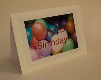 Happy Birthday balloons Greetings card