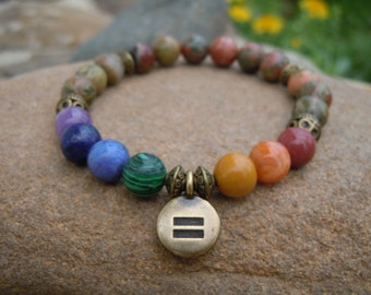 Love is Love Equality Stretch bracelet Human Rights Campaign