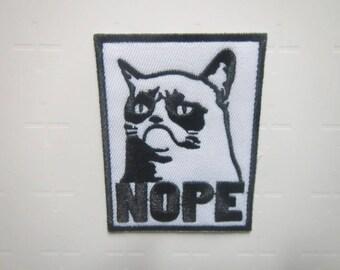 Nope – Grumpy Cat – Tardar Sauce - Iron on Patch
