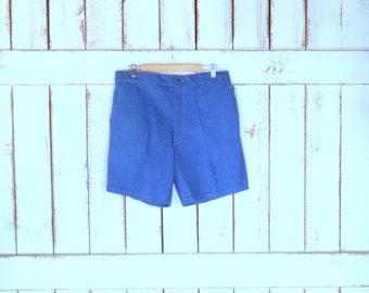 Levis vintage high waisted blue denim jean shorts/long blue jean board shorts/Levis for Men trouser shorts/38