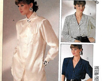 McCall's 2721 Woman's Day Collection Misses Blouse Pattern, 12-16 & 16-20, UNCUT
