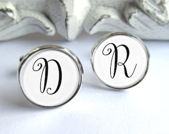 Monogram Cufflinks, Custom Personalized Cufflinks