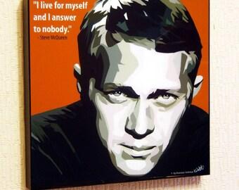 Steve McQueen Poster Pop Art Painting Decor Print Wall Canvas Decals
