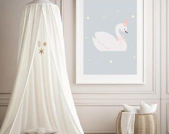 Swan Nursery Printable