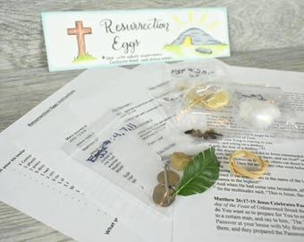 Resurrection Eggs - Build Your Own Kit- Easter Story. Home/Sunday School/Children's Church Lesson.