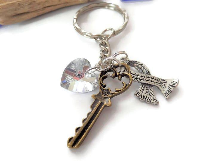Sherlock Holmes themed gift, sherlock keyring, holmes fan gift, 221b key gift, holmes watson gift, sherlock favors, sherlock fan gift