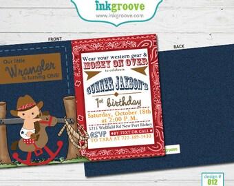 First Birthday Invitations Cowboy 1st Birthday Invitations Lil Wrangler Baby Boys 1st Birthday Printed Invitations