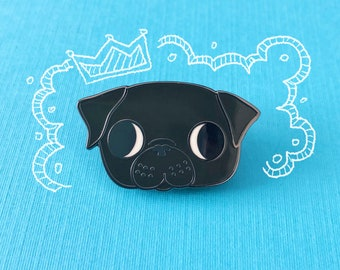 Frank the Pug | Black Pug Enamel Pin