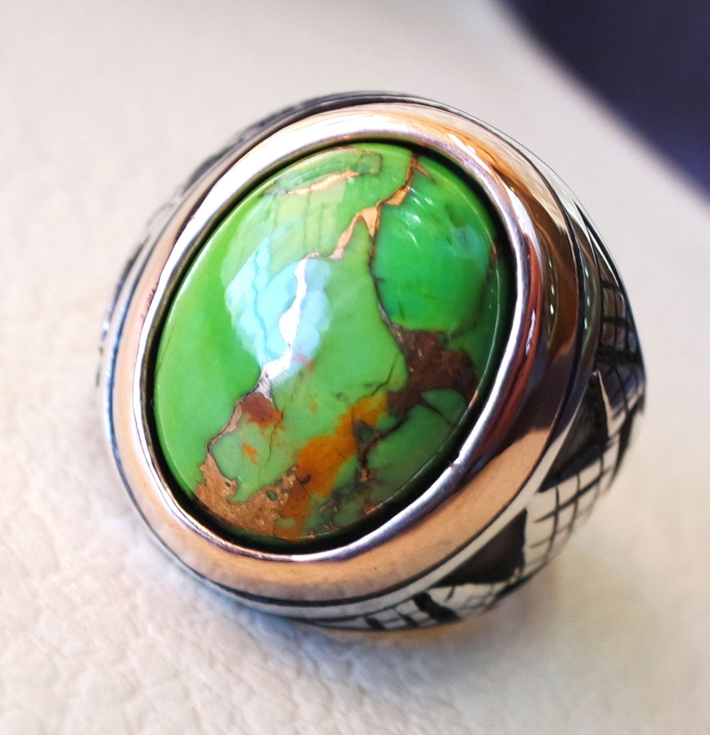 shop oval turquoise stone selection handcrafted new genuine our silver purple artisan gift copper size box sterling usa brand in arizona ring of gemstone jewelry rings