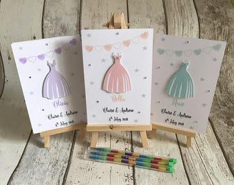 Personalised A6 Wedding Activity Pack Dress Design Children's Gift Favour Kids Activity Kids Wedding Favour