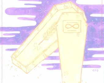 Jamais/Forever | impression d'art 12 x 12 po | illustration de hipster mode grunge pastel goth
