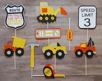 Construction Truck Personalized Photo Booth Props