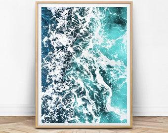 Ocean Print, Ocean Wall Art, Ocean Printable, Ocean Printable Art, Ocean Wave Print, Wave Wall Art, Wave Printable, Sea Print, Sea Water