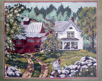 """New Something Special """"Spring Scene"""" Needlepoint Tapestry Kit Barn Country"""