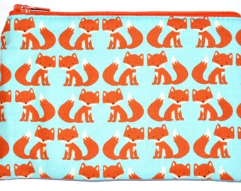 Tiny Foxes Coin Purse Zipper Pouch