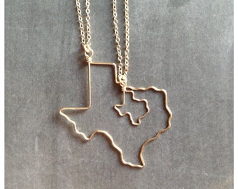 Texas necklace texas state necklace silver sterling silver texas necklace texas jewelry texas state necklace atx personalized bridesmaid gift aloadofball Gallery