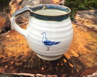 Seagull pottermug cup stoneware handthrown ceramic