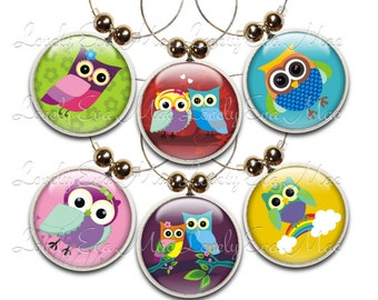 Owl Wine Glass Charms, Wine Charm, Wine Charms, Wine Gift, Owl Charms, Wine Glass Jewelry, Owl Wine Glass Charm, Gift for Wine Lover